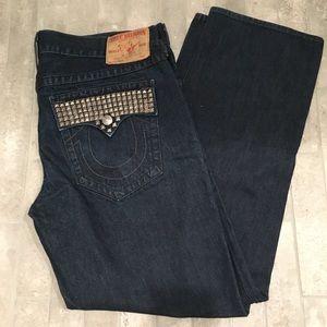 True Religion Billy studded jeans